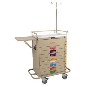 Harloff 6401PEC Classic Line 9 Drawer Pediatric Resuscitation Cart W/breakaway Lock, Specialty Package