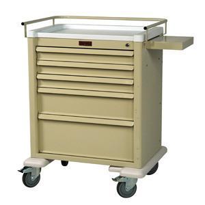 Harloff AL808K5 Medium 5 Drawer Anesthesia Cart W/Key Lock