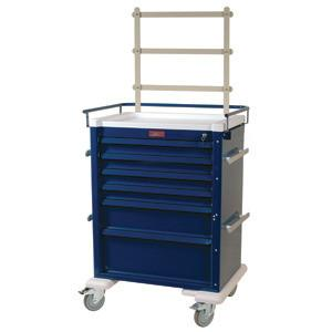 Harloff Al809K6-ANS Tall 6 Drawer Anesthesia Cart  with Accessory Options