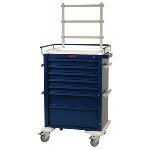 Harloff AL810K7-ANS Super 7 Drawer Anesthesia Cart W/Multiple Locking & Accessory Options
