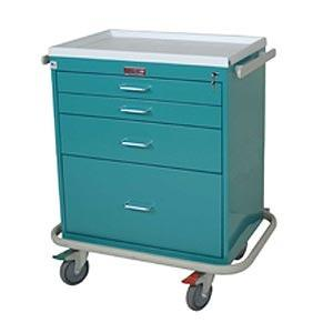 Harloff 6350 Short 4 Drawer Anesthesia Cart W/Key Lock