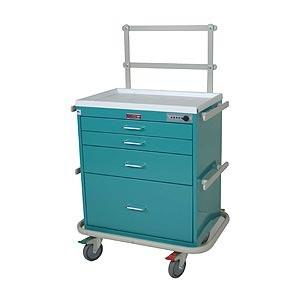 Harloff 7351 Short 4 Drawer Anesthesia Cart with Electonic Lock, Specialty Package