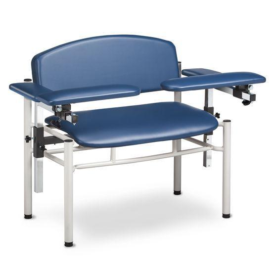 Clinton SC Series Extra-Wide Padded Blood Drawing Chair with Padded Flip Arms