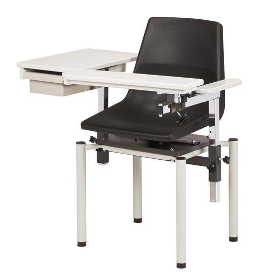 Clinton SC Series E-Z Clean Blood Chair with ClintonClean Flip Arm and Drawer