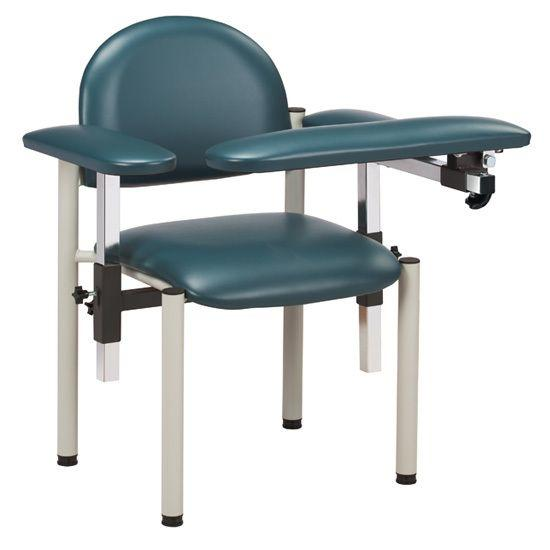 Clinton SC Series Padded Blood Drawing Chair with Padded Arms
