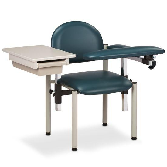 Clinton SC Series Padded Blood Drawing Chair with Padded Flip Arm and Drawer