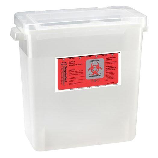 Bemis SharpSentinel 3-Gallon Sharps Container with Large Opening Lid