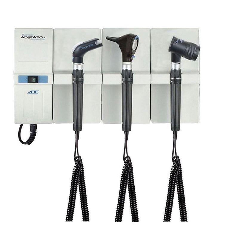 ADC Adstation 5611-56 3.5V Wall Otoscope/Throat Illuminator/Dermascope Diagnostic Set