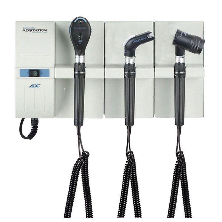 ADC Adstation 5612-56 3.5V Wall Ophthalmoscope/Throat Illuminator/Dermascope Diagnostic Set