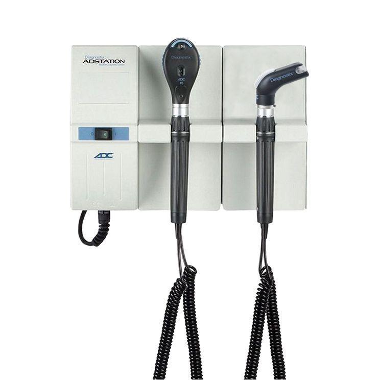 ADC Adstation 5612-6 3.5V Wall Ophthalmoscope/Throat Illuminator Diagnostic Set