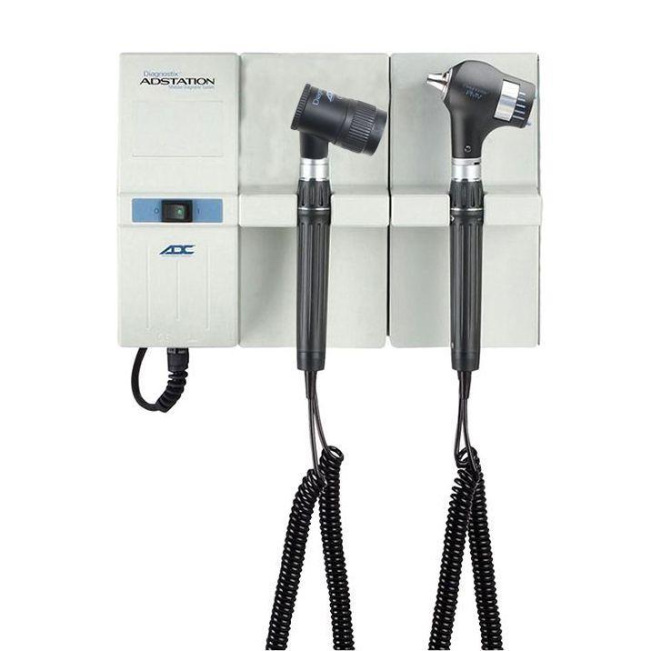 ADC Adstation 5681-5 3.5V Wall PMV Otoscope/Dermascope Diagnostic Set