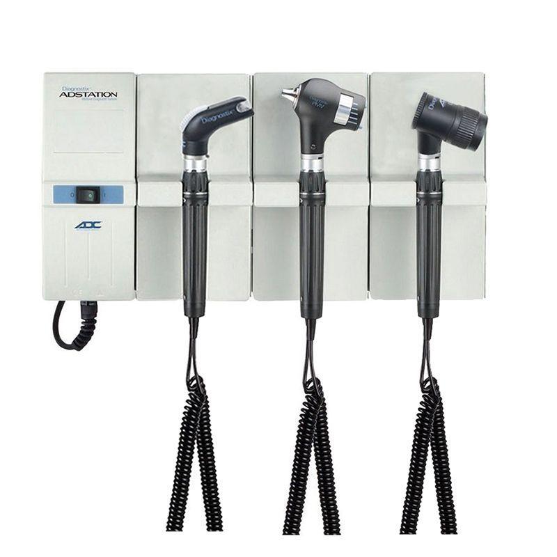 ADC Adstation 5681-56 3.5V Wall PMV Otoscope/Throat Illuminator/Dermascope Diagnostic Set