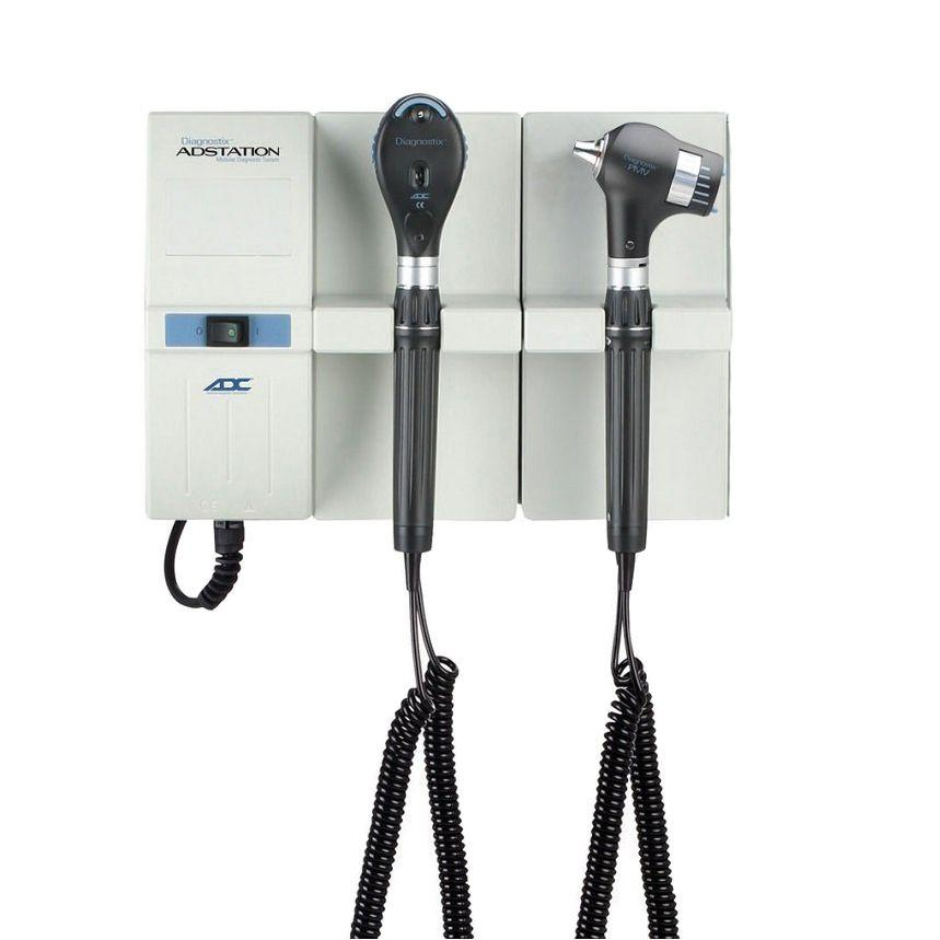 ADC Adstation 56802 3.5V Wall PMV Otoscope/Coax Plus Ophthalmoscope Diagnostic Set