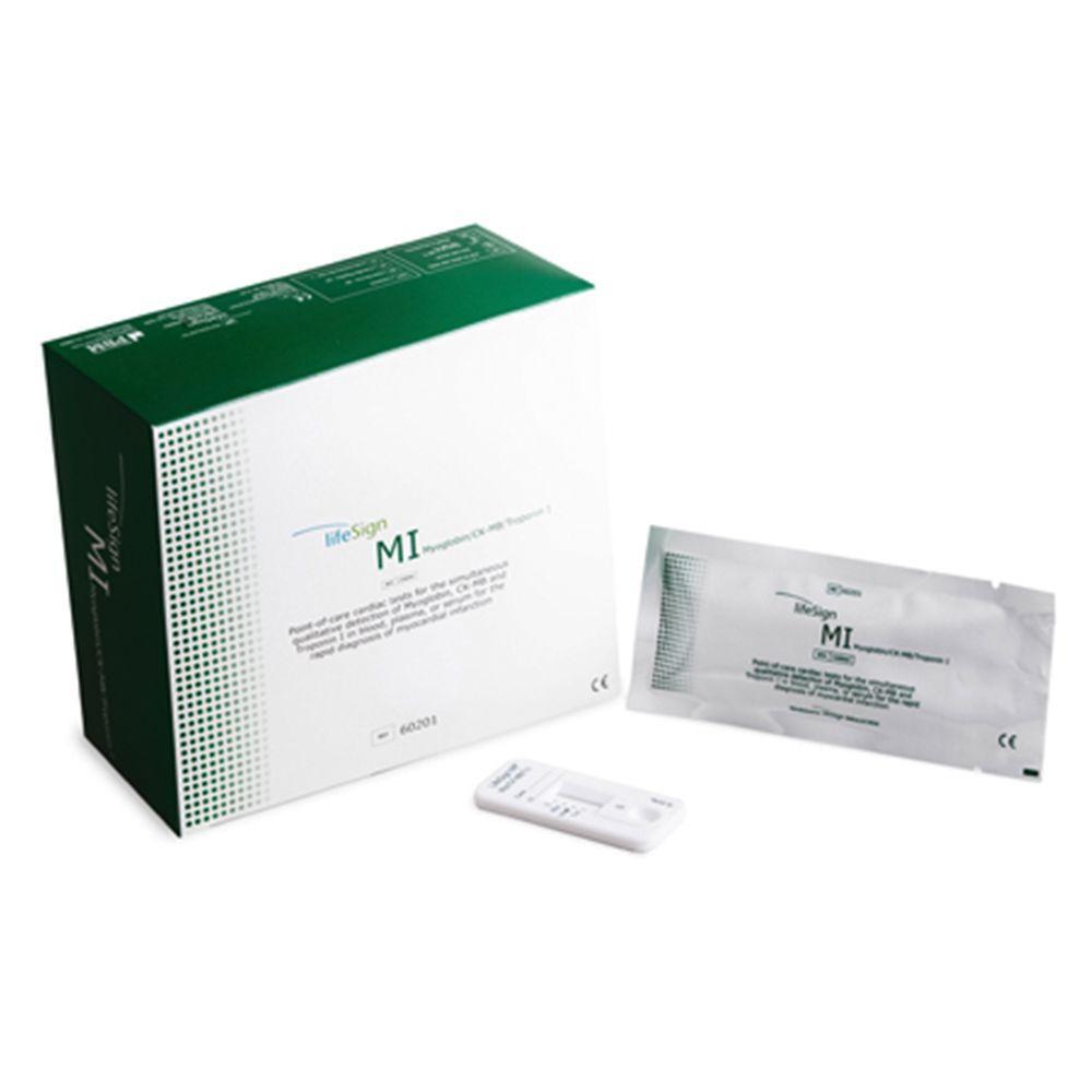 LifeSign MI CK-MB/Myo/TnI Test Kit (20 Tests)