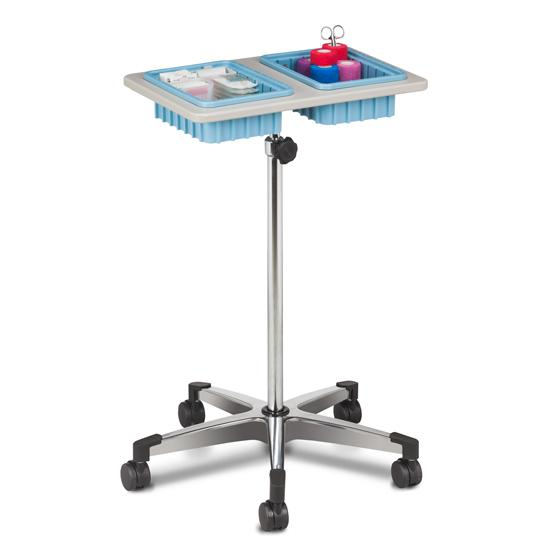 Clinton Two-Bin Mobile Phlebotomy Stand