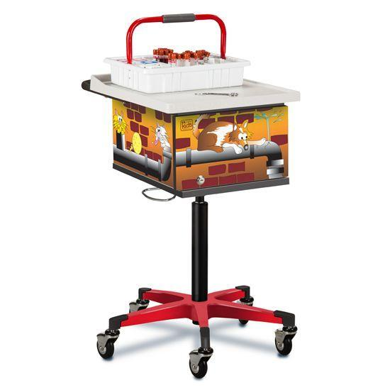 Clinton Pediatric Alley Cats and Dogs Phlebotomy Cart