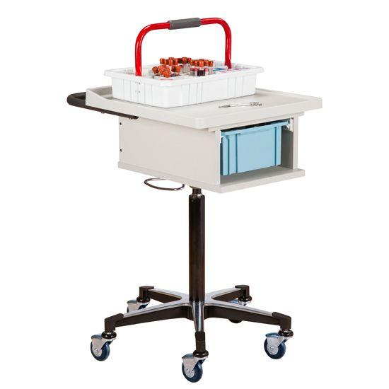 Clinton One-Bin Phlebotomy Cart