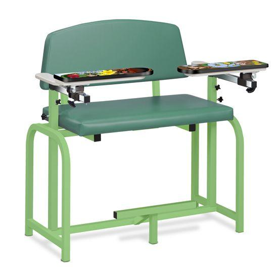 Clinton Pediatric Series/Spring Garden Extra Wide Blood Drawing Chair