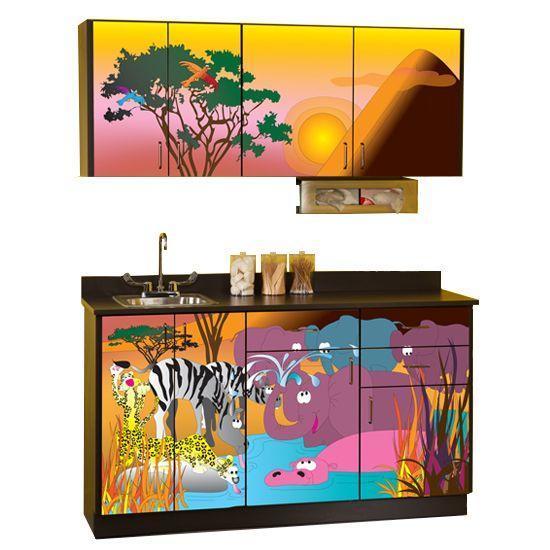 Clinton Serengeti Sunrise Cabinets
