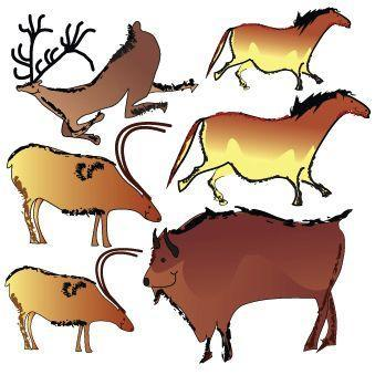 Clinton Cave Paintings Wall Sticker