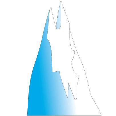 Clinton Ice Mountain 1 Wall Sticker