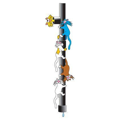 Clinton Downspout Cats Wall Sticker