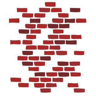 Clinton Bricks Wall Sticker