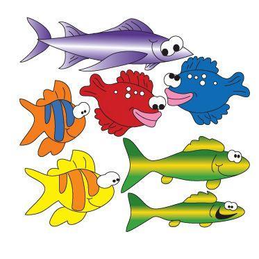 Clinton School of Fish (Right Facing) Wall Sticker