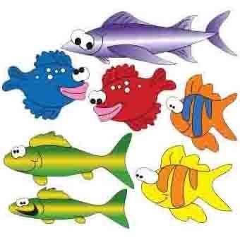 Clinton School of Fish (Left Facing) Wall Sticker
