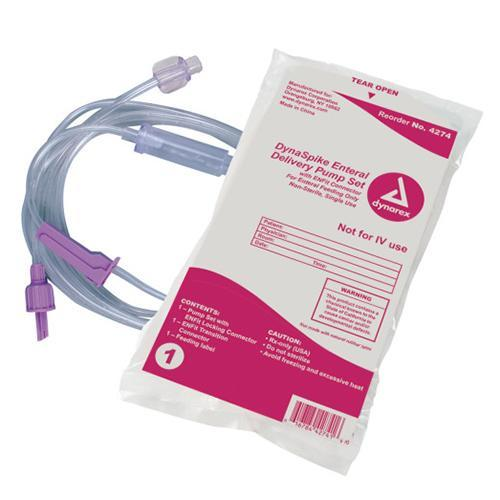 Dynarex DynaSpike Enteral Delivery Pump Set with ENFit Connector (30/Case)