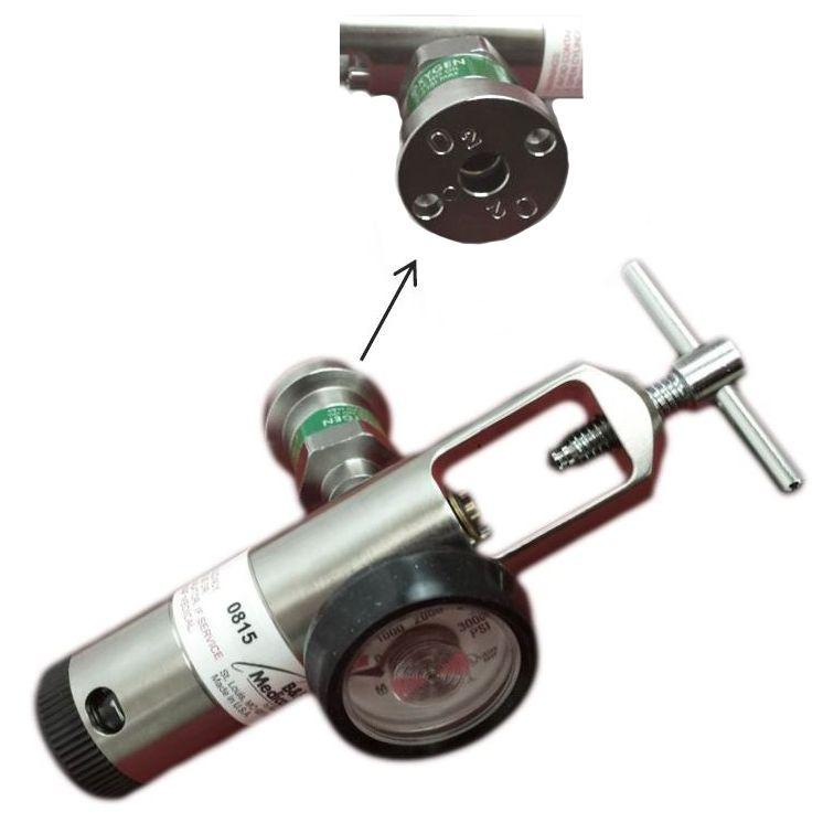 Allied Healthcare B&F Oxygen Regulator with Ohmeda Style Quick Connect O2 Coupler