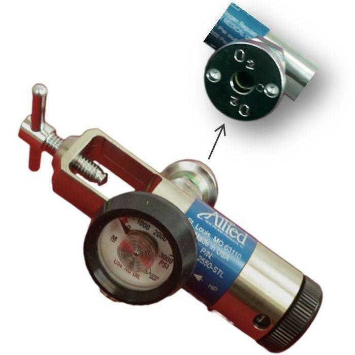 Allied Healthcare Spectrum Oxygen Regulator with Ohmeda Style Quick Connect O2 Coupler