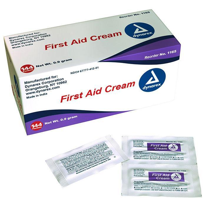 Dynarex First Aid Burn Cream - 0.9 g Packet (1728/Case)