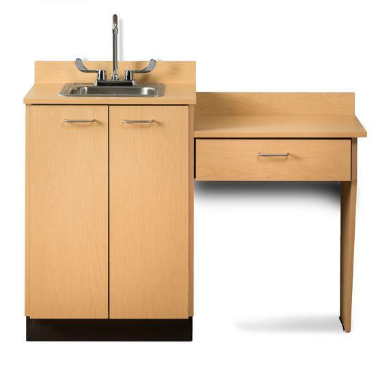 """Clinton 24"""" Base Cabinet Set with 2 Doors and Desk"""