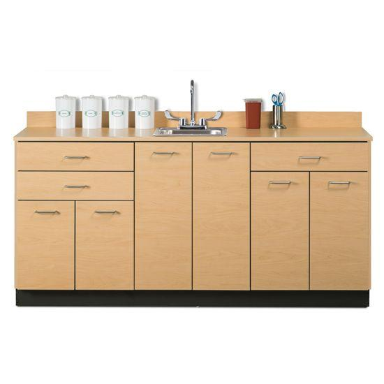 """Clinton 72"""" Base Cabinet with 6 Doors and 3 Drawers"""