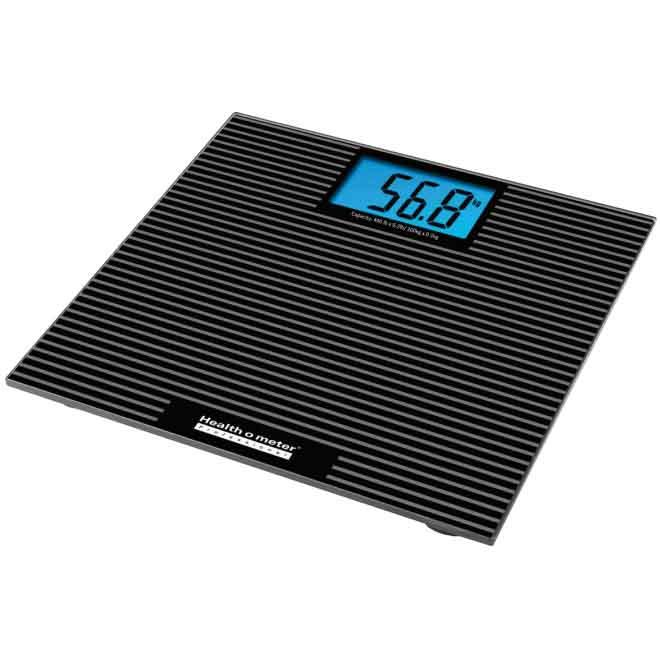 Health o meter 810KL Digital Glass Scale with Anti-Slip Tread and Backlight (2/Case)