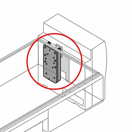 """GE 7"""" Wall Channel with NAD Universal Mounting Plate"""