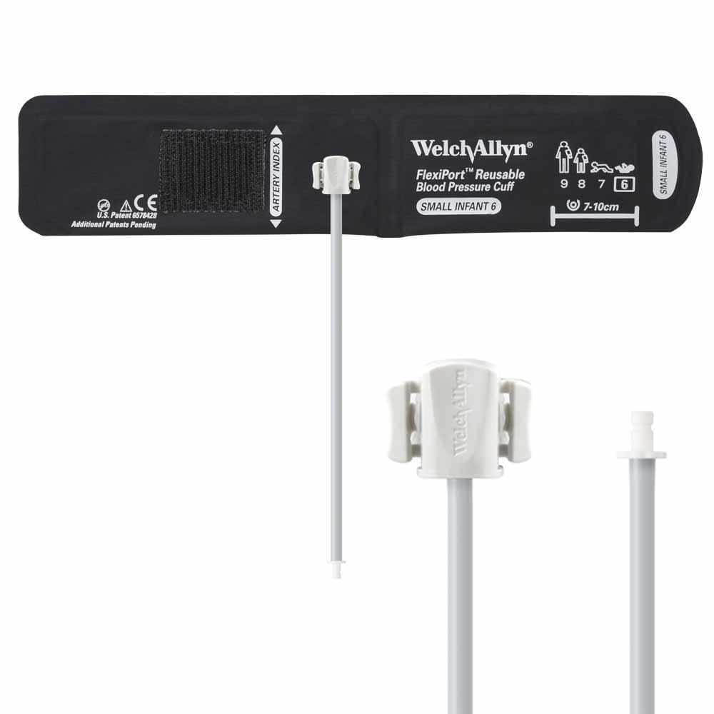 Welch Allyn FlexiPort Reusable Blood Pressure Cuff with One-Tube Bayonet Connector