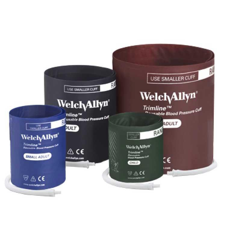 Welch Allyn Trimline Reusable 1-Tube Cuff with Bayonet Connector