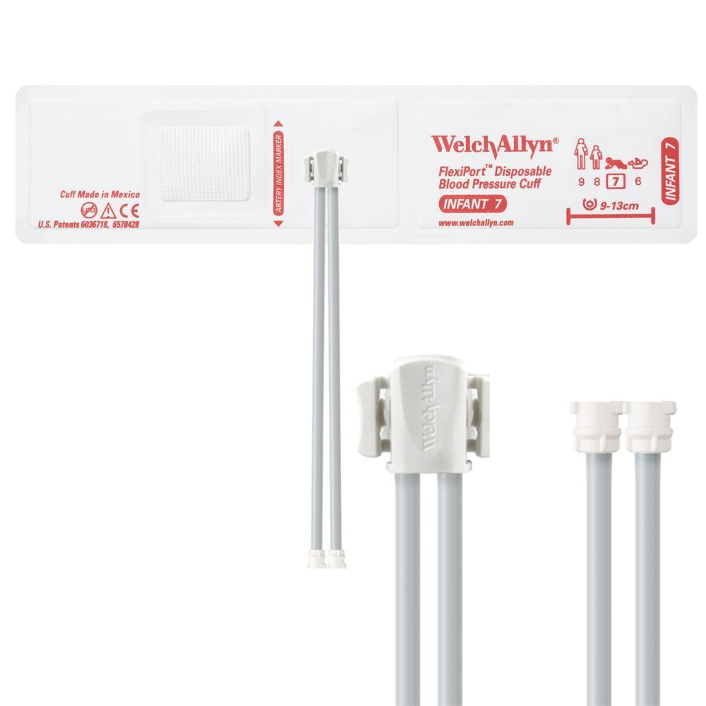 Welch Allyn FlexiPort Blood Pressure Cuff with Two-Tube Locking Type Connector (20/Box)