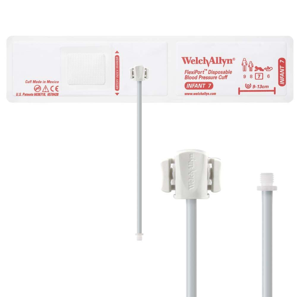 Welch Allyn FlexiPort Blood Pressure Cuff with One-Tube Screw-Type Connector (20/Box)